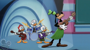 Goofy plays ukulele