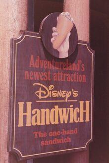 Handwich Adventureland Sign