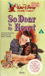So Dear To My Heart (1980s UK VHS) Front Cover