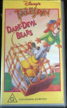 TaleSpin Dare Devil Bears 1994 AUS VHS