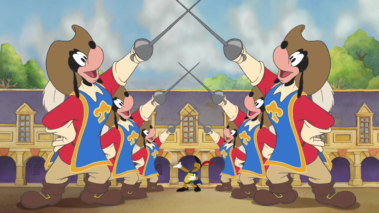 mickey donald and goofy the three musketeers chains of love
