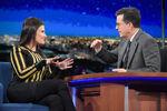 Idina Menzel visits Stephen Colbert