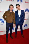 James Marsden and Ben Schwartz CinemaCon 2019 Paramount Pictures