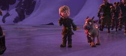 Junger Kristoff und Sven