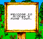 Mickey's Racing Adventure Mickey's Home Town Sign