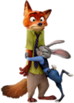 Nick and Judy Hug Vector