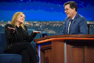 Samantha Bee visits Stephen Colbert