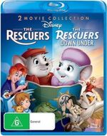 The Rescuers + The Rescuers Down Under 2012 AUS Blu Ray