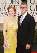 Alan Ruck & Mireille Enos at Golden Globes
