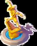D-tick-tock croc statue
