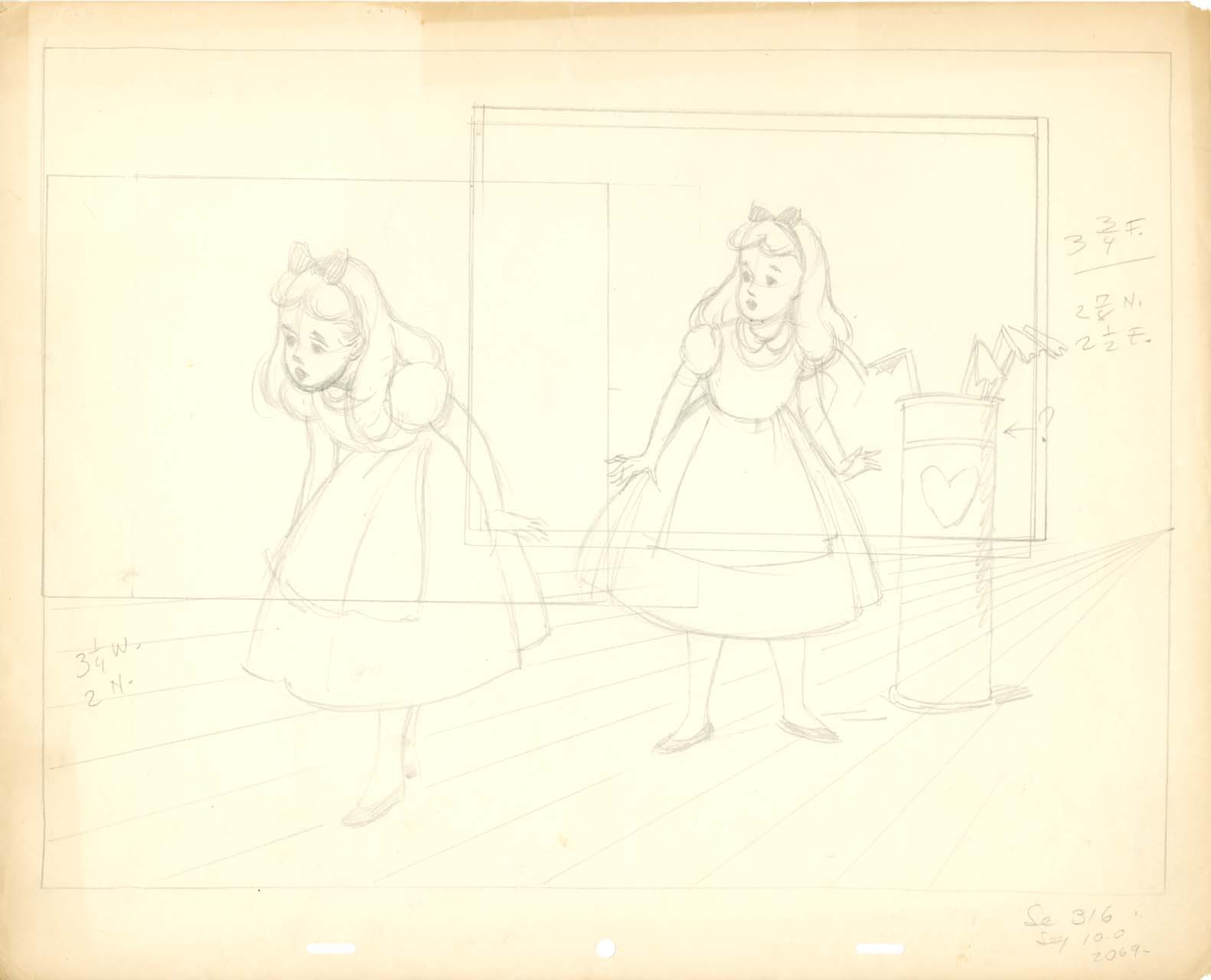 Line Drawing Wiki : Image field drawing alice on the croquet grounds layout