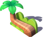 D-palm tree bench