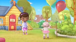 Lambie with a balloon