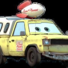 Ciężarówka Pizza Planet w serii Auta.
