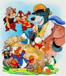 Walt-disney-studios-tailspin,-chip-n-dale-rescue-rangers,-and-duck-tales-promotional-illustration-(2-works)