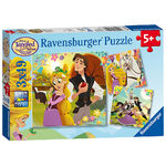 Tangled The Series 3 in 1 Puzzle Set