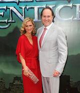 Jon Turteltaub & wife Amy Eldon Sorcerer's Apprentice premiere