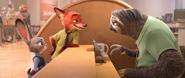 Nick und Judy sprechen mit Flash