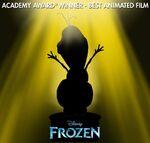 Frozen Acadamy Award Winner Best Animated Film Promotion