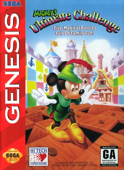 Mickey's Ultimate Challenge Genesis Cover