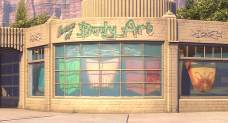 Ramone S House Of Body Art Disney Wiki Fandom