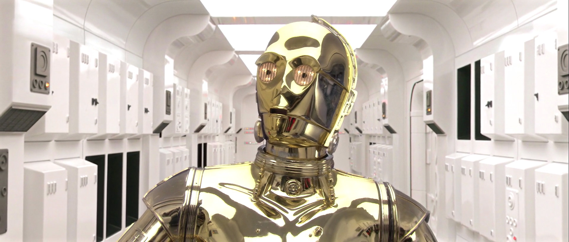 Vinyl Decal Sticker Star Wars Droid C3p0 jedi C3PO Shocked Style Head