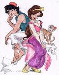 Aladdin-Concept-Art-Aladdin-Jasmine-Abu