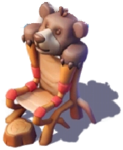 D-teddy bear throne