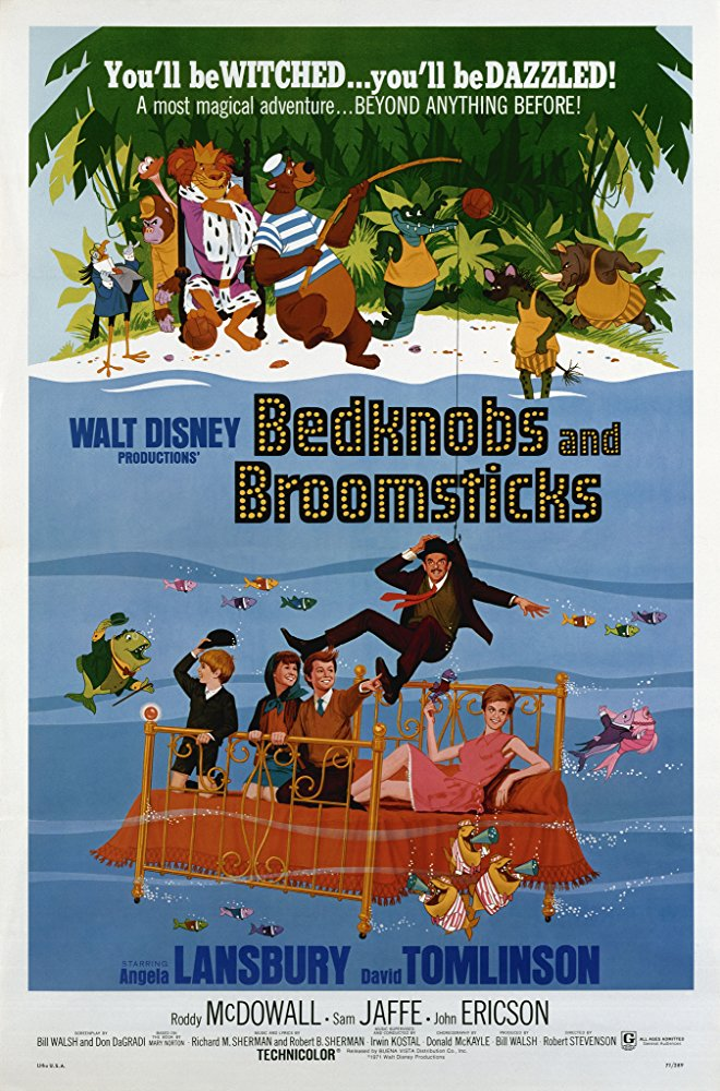 "/""Bedknobs and Broomsticks/"".. Angela LANSBURY Classic Movie Affiche A4"