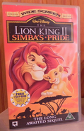 Disney The Lion King 2 - Simba's Pride - Special Widescreen Edition UK VHS (1999)