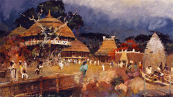 Equatorial Africa Concept painting