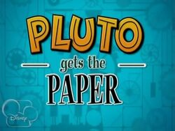 Pluto Gets the Paper