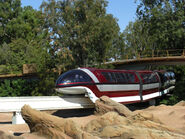 Disneyland Mark VII Monorail Red
