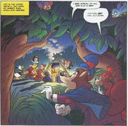Foulfellow and Gideon in a Donald Duck comic