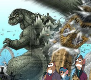 Godzilla invades Great Mouse Detective