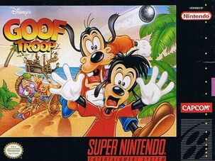 Goof Troop SNES Box