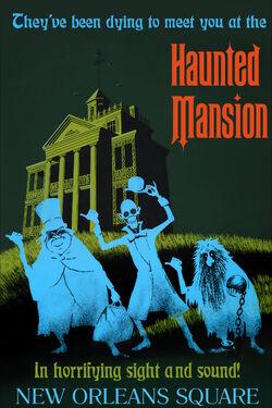 Haunted Mansion poster at Disneyland Anaheim