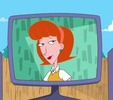 Linda on A monitor