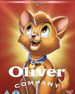 Oliver & Company UK DVD 2014 Limited Edition slip cover