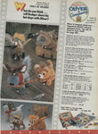 Oliver & Company toys print ad from 1988 Sears Christmas Catalog