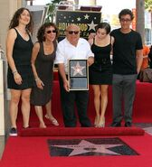 Danny Devito with family Walk of Fame