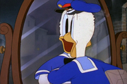 Donald about to crash into a mirror