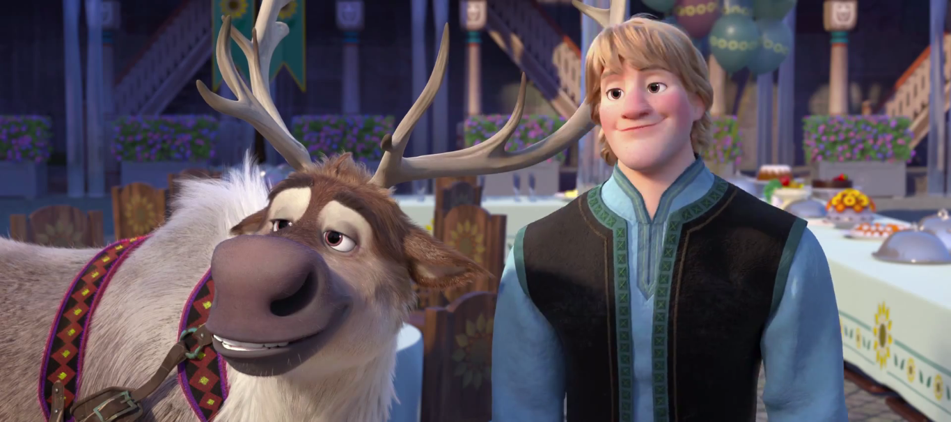 image frozen fever kristoff and sven png disney wiki fandom