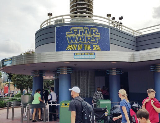 Image result for path of the jedi disneyland