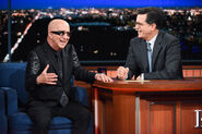 Paul Shaffer visits Stephen Colbert