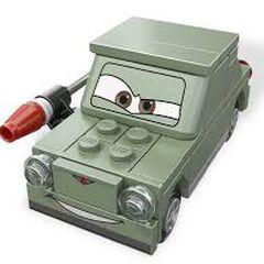 Figurka Petrova w klockach LEGO.