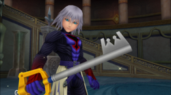 Riku Holding the Keyblade