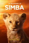 The Lion King 2019 Young Simba Poster