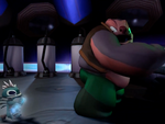 Chopsuey giving DNA to Jumba