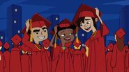 Jake Trixie Spud graduates